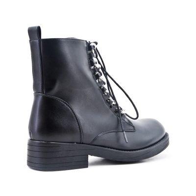 Boots Silver Chain zwart zwarte dames boots korte laarzen laarsjes dr martens festival winter enkellaarzen online goedkoop fashion schoenen kunstleder bestellen
