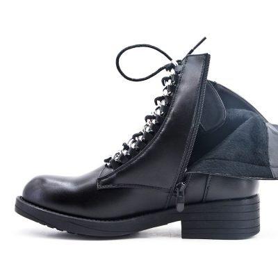 Boots Silver Chain zwart zwarte dames boots korte laarzen laarsjes dr martens festival winter enkellaarzen rtis online goedkoop schoenen bestellen