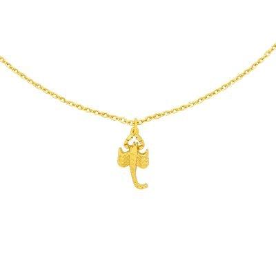 Ketting Scorpio goud gouden dames kettingen kleine schorpioen bedel musthave fashion dames sieraden kopen bestellen detail