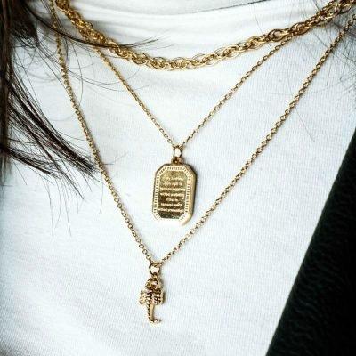 Ketting Scorpio goud gouden dames kettingen kleine schorpioen bedel musthave fashion dames sieraden kopen bestellen kado