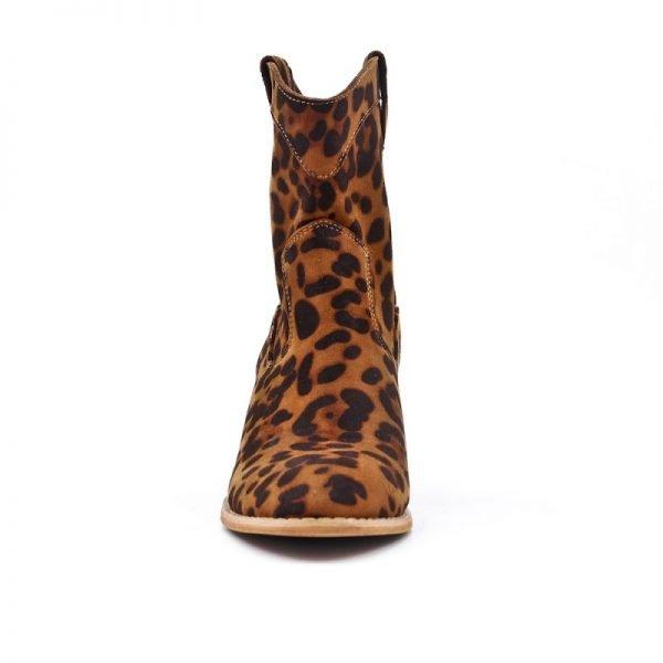 Laarsjes Leopard Cowboy panterprint laarsjes enkellaarsen boots booties dames schoenen dieren print fashion musthave item kopen bestellen nu