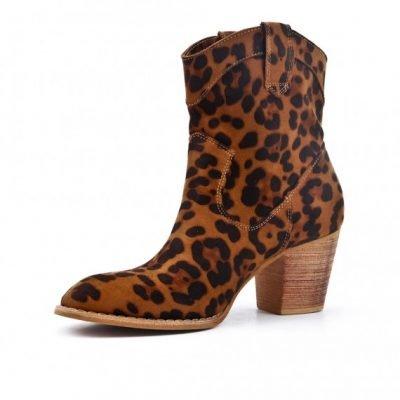 Laarsjes Leopard Cowboy panterprint laarsjes enkellaarzen boots booties dames schoenen dieren print fashion musthave item kopen bestellen
