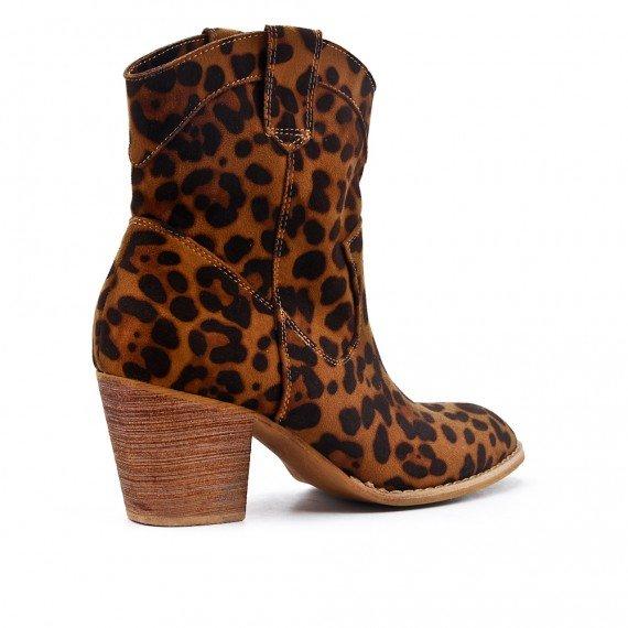 Laarsjes Leopard Cowboy panterprint laarsjes enkellaarzen boots booties dames schoenen dieren print fashion musthave item kopen bestellen achterkant