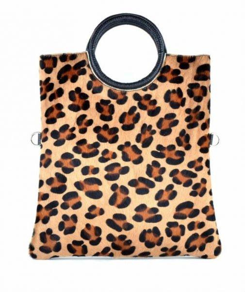 Leren Bag in Bag Dierenhuid leopard luipaard panter Handtas leder giuliano koeienvacht luxe leer italiaans leder kopen bestellen giuliano bags