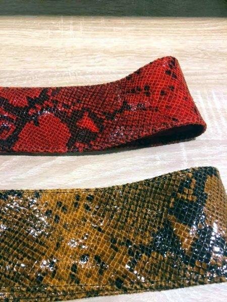 Leren Clutch Snakes creme groen rood blauwe oranjge slangenprint clutches schoudertas leder leer schoudertassen kopen trendy dames - kopie