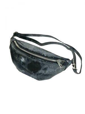 Leren Heuptas Snakes zwart zwarte fannypack beltbag riemtassen leder leer heuptassen kopen trendy