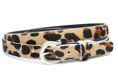 Leren Riem Leopard panter print lederen riemen leer kopen centuur kopen dames dunne riemen
