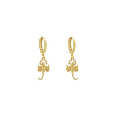 Oorbellen Scorpio goud gouden dames oorbellen kleine schorpioen musthave fashion dames sieraden kopen bestellen