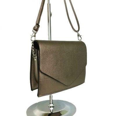 Schoudertas-Fancy-brons bronzen-kleine-dames-tasjes-tassen-fashion-bags-kopen-goedkoop-giuliano schouderband side - kopie