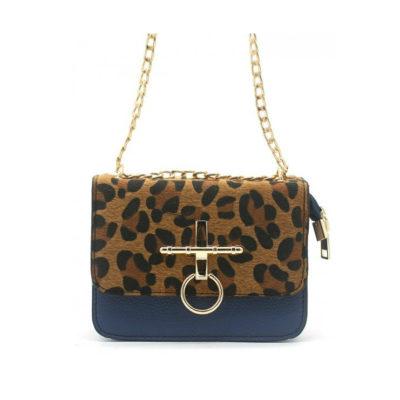 Schoudertas-Leopard-Ring-blauw-blauwe-gouden-beslag-2-kleurige-panter-print-tassen-tasjes-kunstleder-goedkope-dames-tasjes-kopen