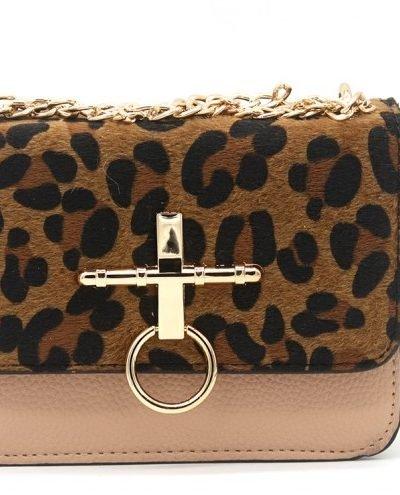 Schoudertas Leopard Ring roze oud roze pink studs panter print tassen tasjes kunstleder goedkope dames tasjes kopen