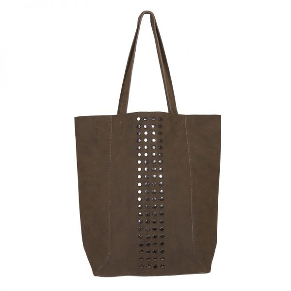 Shopper Lovely Studs groen groene tassen shoppers grote tas kuntsleder etui bag in bag gouden studs online yehwang kopen