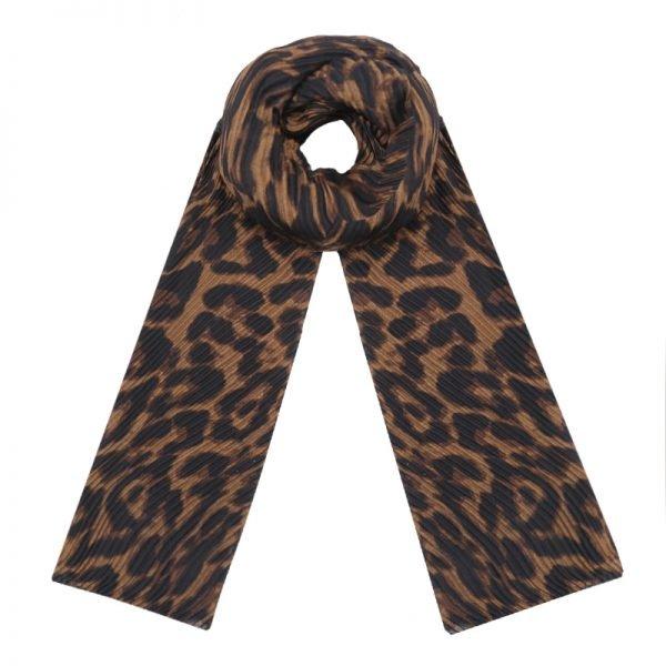Sjaal Dark Leopard bruin bruine donkere dames sjaals leopard panter luipaard print online fashion bestellen