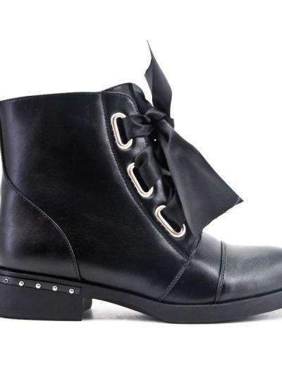 Zwarte Boots Lace veters zwart zwarte dames boots korte laarzen laarsjes dr martens festival winter enkellaarzen online goedkoop schoenen bestellen