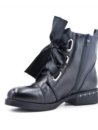 Zwarte Boots Lace veters zwart zwarte dames boots korte laarzen laarsjes dr martens festival winter enkellaarzen online goedkoop schoenen bestellen kopen