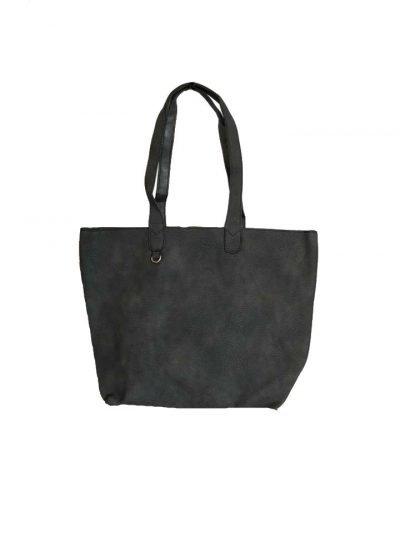 Bag in Bag Tas Monica donker grijs zwart zwarte tassen extra kunstleder binnentas tassen kopen achter