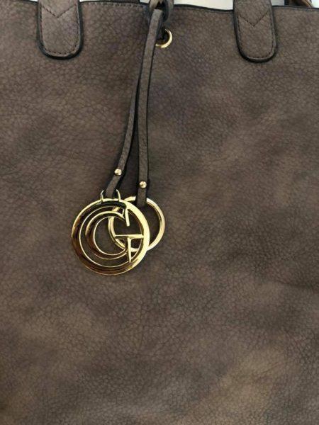Bag in Bag Tas Monica soil bruin bruine tassen extra binnentas tassen kopen detail