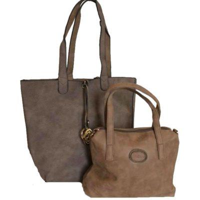 Bag in Bag Tas Monica soil bruin bruine tassen extra binnentas tassen kopen