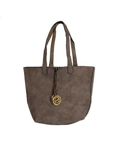 Bag in Bag Tas Monica soil bruin bruine tassen extra kunstleder binnentas tassen kopen