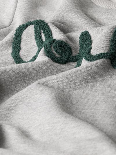Grijze Sweater OhLaLa grijs truien winter kleding groene tekst kopen bestellen details