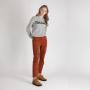 Grijze Sweater OhLaLa grijs truien winter kleding groene tekst kopen bestellen kopen