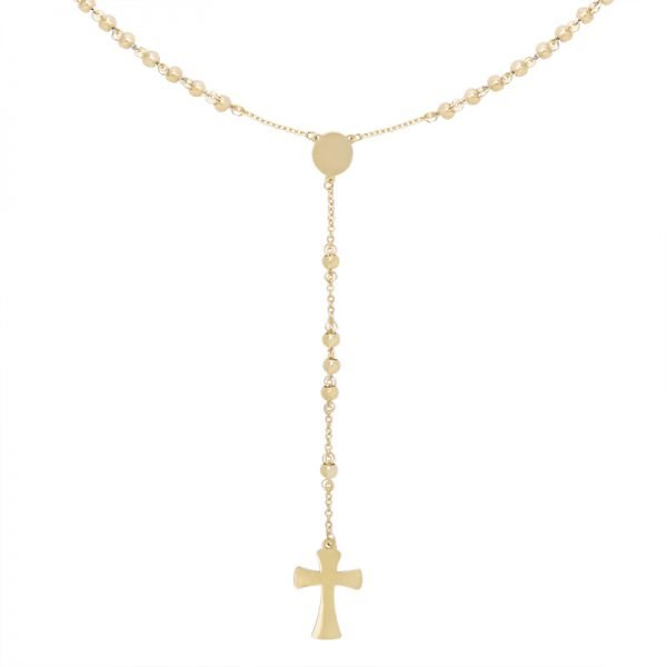 Ketting Rosery Rounds goud gouden ketting kruis bedel maria fashion ketting necklage kopen details