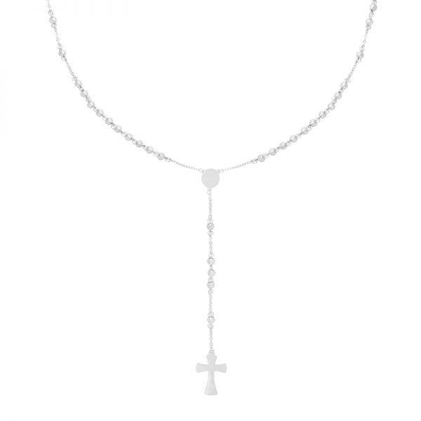 Ketting Rosery Rounds zilver zilveren ketting kruis bedel maria fashion ketting necklage kopen