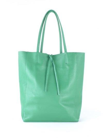 Leren-Shopper-Simple-groen groene ruime-dames-shopper-zacht-leer-online-luxe-dames-tassen-italie-bestellen