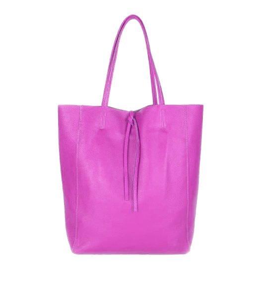Leren-Shopper-Simple-paars paarse-ruime-dames-shopper-zacht-leer-online-luxe-dames-tassen-italie-bestellen
