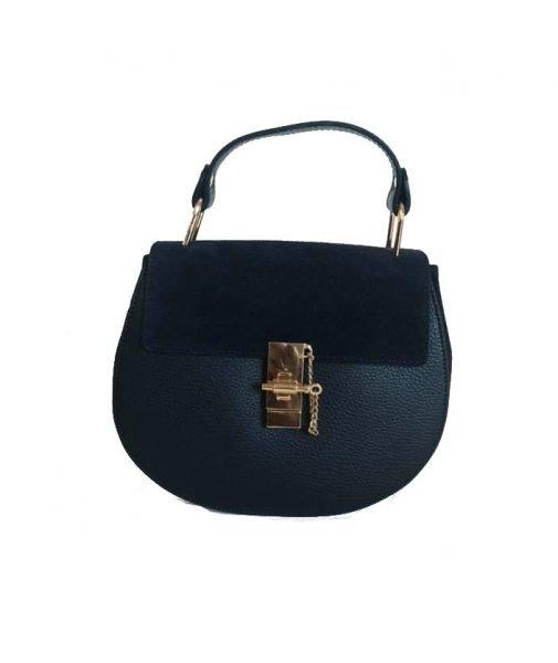 Leren-tas-Chloé-blauw-blauwe-kobalt-musthave-saddle-bag-leer-suede-musthave-tassen-leren kopen
