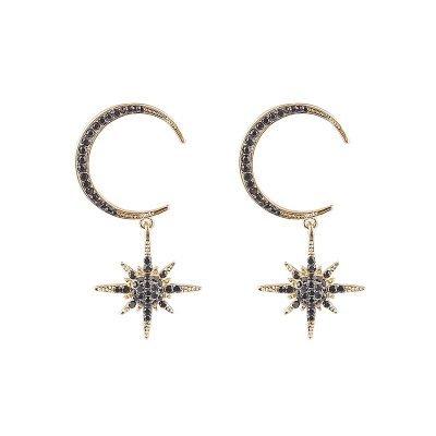 Oorbellen Pretty Moon Star goud gouden oorbel grote ster bedel maan sieraden fashion earcandy kopen