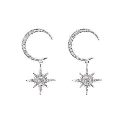 Oorbellen Pretty Moon Star zilver zilveren oorbel grote ster bedel maan sieraden fashion earcandy kopen