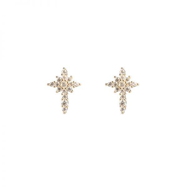 Oorbellen Shimmer Glam goud gouden oorbel dames sieraden diamantjes sparkels glitter