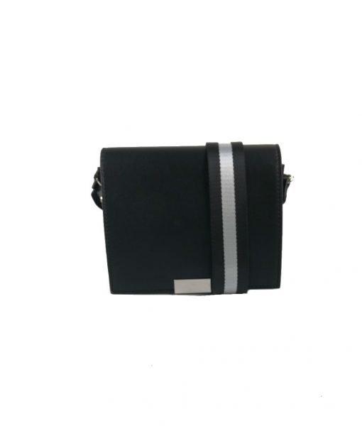 Schoudertas-Lines-zwart-zwarte-schoudertassen-kleine-tasjes-twee-kleurig-hengsel-musthave-strepen-grijs-zw