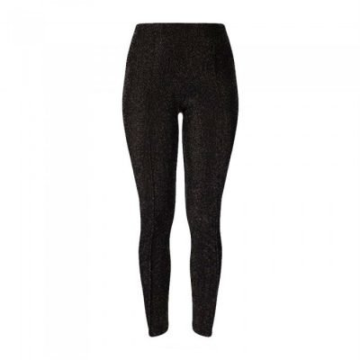Zwarte Legging Shiney zwart leggings dames stretch kleding glitters glans broeken glans