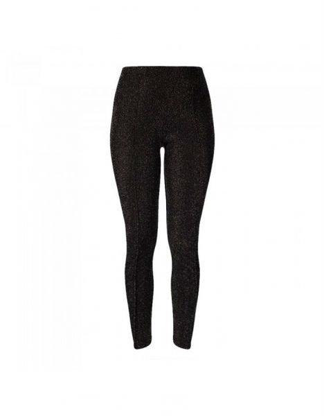 Zwarte Legging Shiney zwart leggings dames stretch kleding glitters glans broeken glans