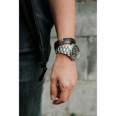 Zwarte Mannen Bracelet RVS zwarte armbanden stoer man accessoires online kopen kado