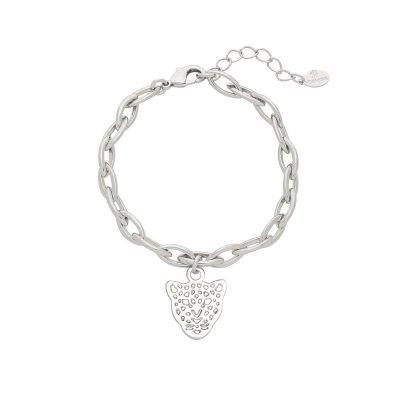Armband Panter Dreams zilver zilveren schakelarmband dierenkop bedel trendy vergulde bracelets