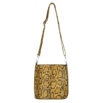 Bucket Bag Trendy Snake geel gele slangenrprint dames tassen handtassen schoudertassen