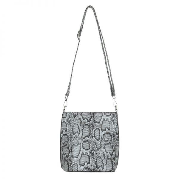 Bucket Bag Trendy Snake zwart zwarte slangenrprint dames tassen handtassen schoudertassen