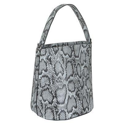 Bucket Bag Trendy Snake zwart zwarte slangenrprint dames tassen handtassen schoudertassen kopen