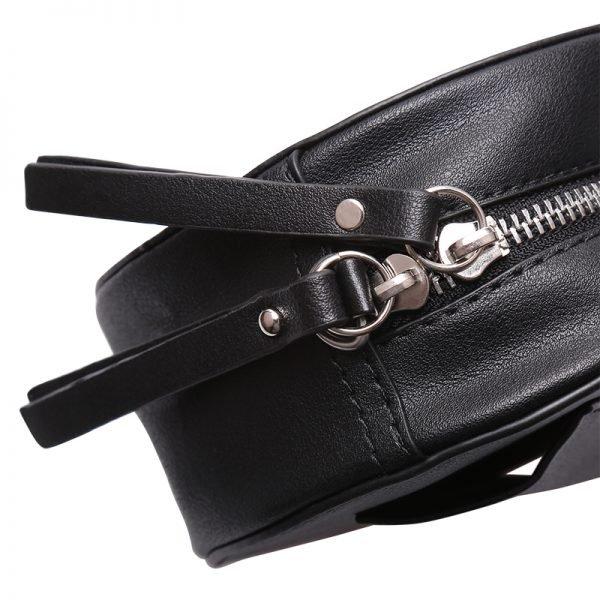 Duo Tas Stylisch Snake grijs grijze slangenprint heuptassen fannypack beltbag ronde tassen kopen detail