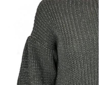 Grijze Trui Berry grijs dames truien sweaters brede mouwen fashion kleding klopen online