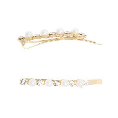 Haarpin Bling Pearl Waves goud gouden haarpinnen diamandtjes strass steentjes fashion haaraccessoires yehwang kopen