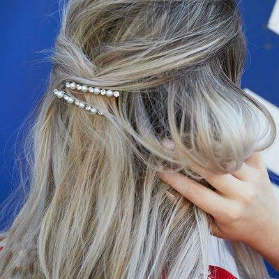 Haarpin Bling Pearl Waves zilver zilveren haarpinnen diamandtjes strass steentjes paresl fashion haaraccessoires yehwang kopen