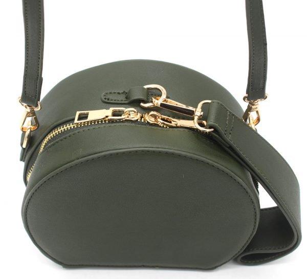 Half Ronde Tas Must groen groene ronde dames tassen kunstleder rits polsbandje lang hengsel kopen tassen online detail