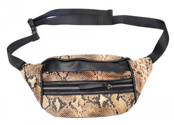 Heuptas Snake Slangenprint bruin bruine heuptassen beltbags fannypack dames online kopen