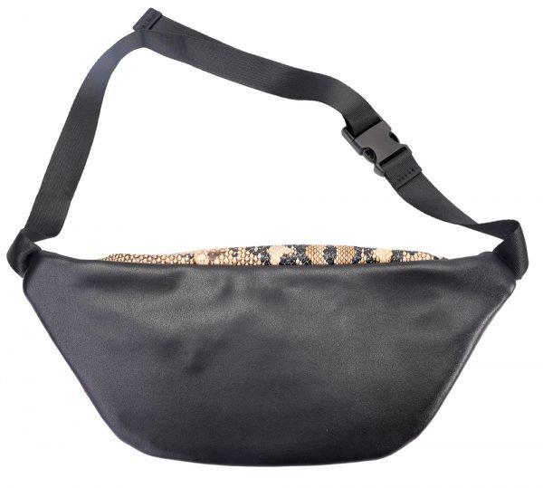 Heuptas Snake Slangenprint bruin bruine heuptassen beltbags fannypack ritsen dames online kopen back