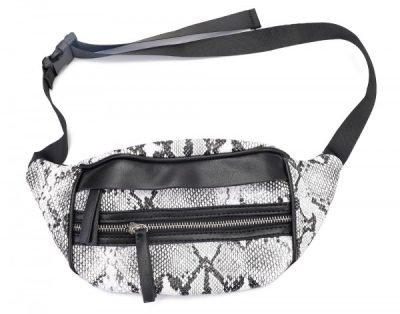Heuptas Snake Slangenprint wit witte heuptassen beltbags fannypack dames online kopen