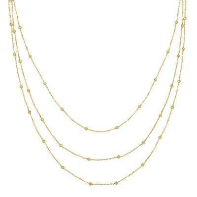 Ketting Layering Dots goud gouden drie dubbele kettingen setje bolletje necklages sieraden kopen